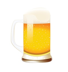 Beer mug with foam vector