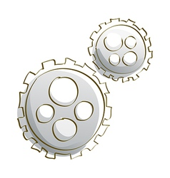 Icon cogwheel vector