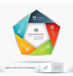 Business step paper lines and numbers vector