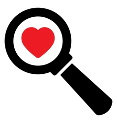 Search love icon vector