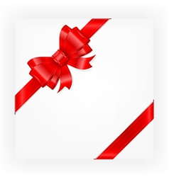 Big red gift bow vector