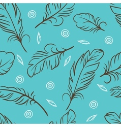 Seamless pattern of abstract feathers vector