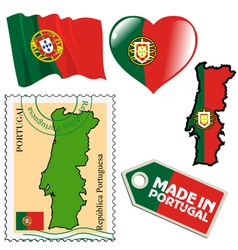 National colours of portugal vector
