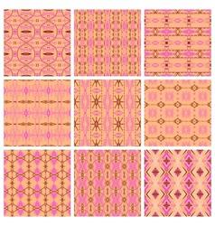 Set of nine tribal patterns vector