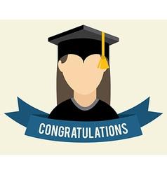 Graduation design vector