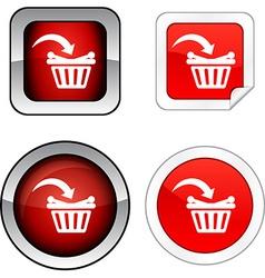 Buy button set vector