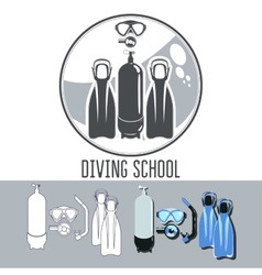 Diving school vector