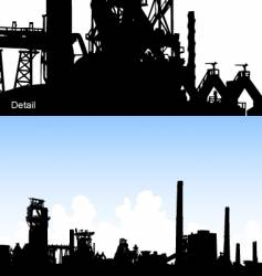 Industrial skyline vector