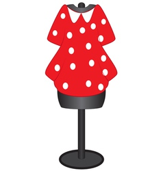 Dress on a mannequin for sewing vector