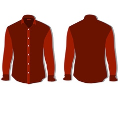Red shirt vector