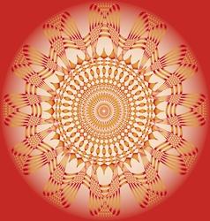 Ornamental sun poster vector