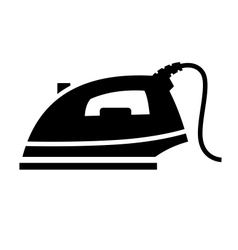 Steam iron icon vector