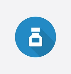 Drugs flat blue simple icon with long shadow vector