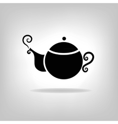 Isolated icon kettle teapot coffee pot vector