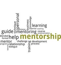 Word cloud mentorship vector