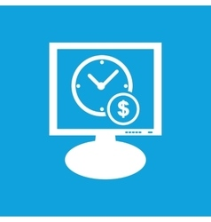 Time is money monitor icon vector