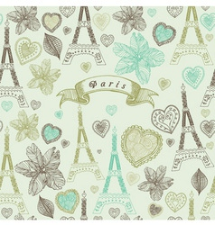 Vintage paris pattern vector