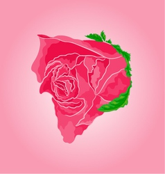 Beautiful rose simple symbol of love vector
