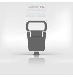 Photo camera flashlight vector