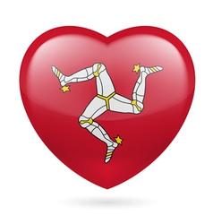 Heart icon of isle of man vector
