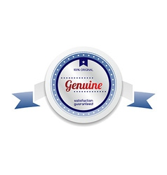 Genuine product sale and quality label sticker vector