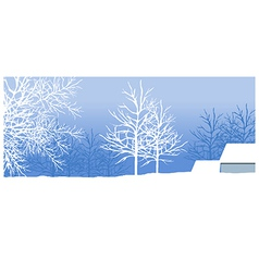 Snowy winter landscape vector