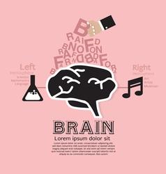 Brain infographic vector