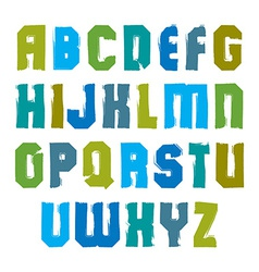 Stylish brush uppercase letters handwritten vector