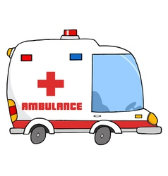 Ambulance vehicle vector