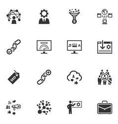 Seo and internet marketing icons vector