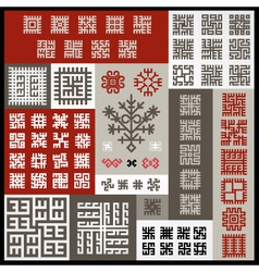 Ethnographic ornaments vector