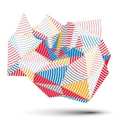 Geometric colorful polygonal striped structure vector