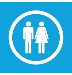 Man woman sign icon vector