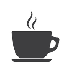 Icon of coffee cup vector