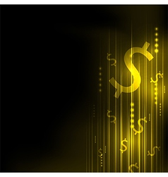 Abstract yellow dollar technology communicate vector