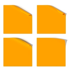 Curled orange paper corner vector