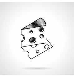 Cheese black line icon vector