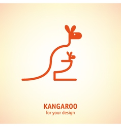 Kangaroo icon vector