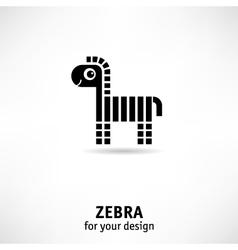 Zebra icon vector