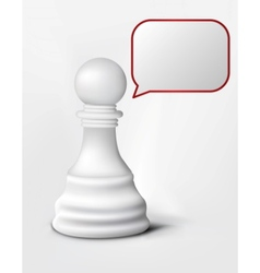Speach of chess pawn vector