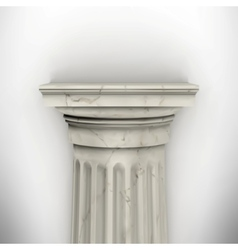 Column isolated on white wall vector