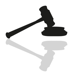 Gavel on white background vector