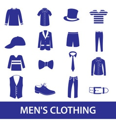 Mens clothing icon set eps10 vector