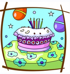 Birthday cake vector