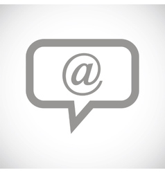 Mail black icon vector