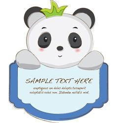 Cute animal tab vector
