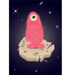 Alien lost in space sad monster vector