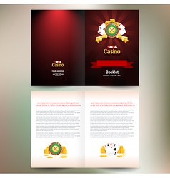 Booklet brochure folder casino european roulette vector