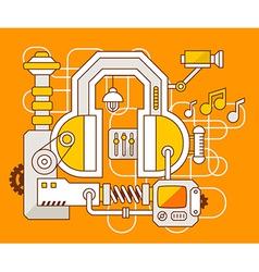 Industrial of the mechanism of headphone vector