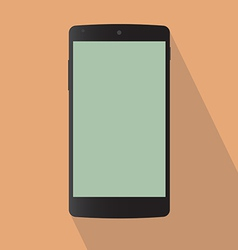 Typical back mobile phone vector